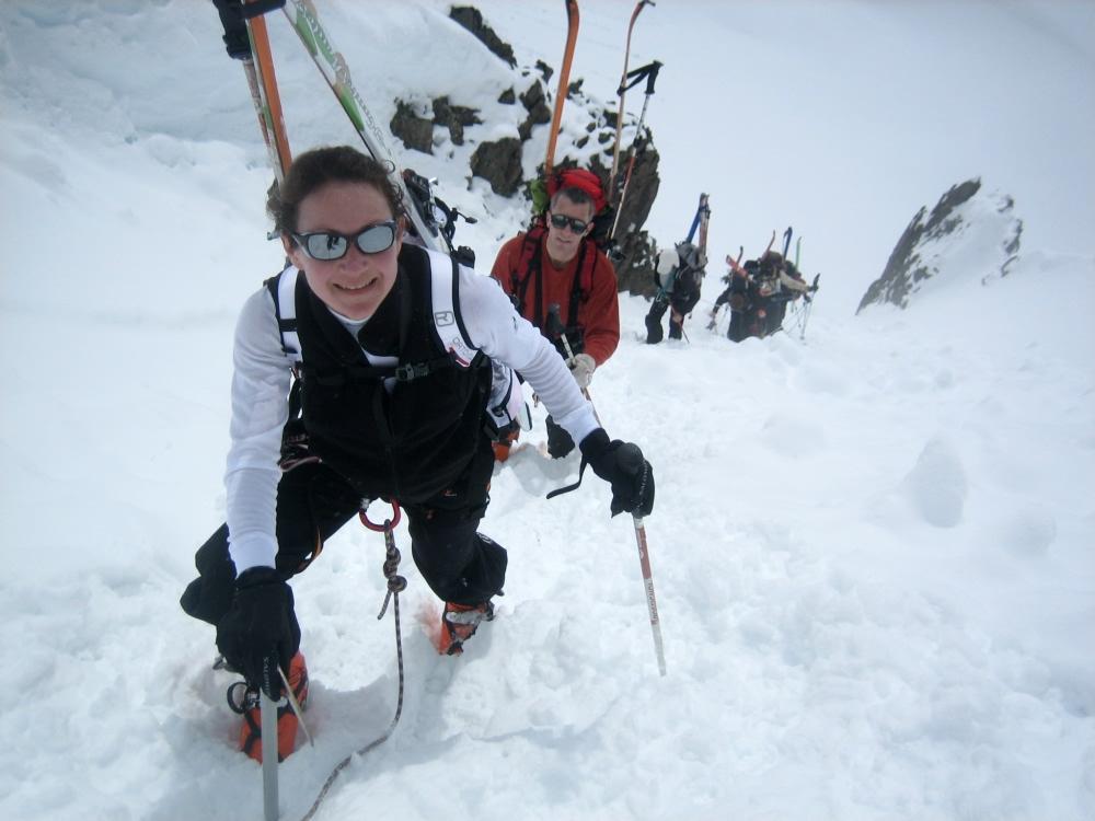 Haute-route Chamonix Zermatt : montée du col du Passon